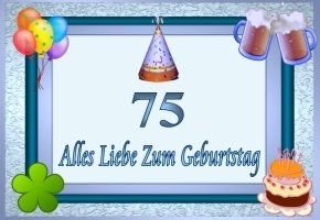Wünsche Zum 75. Geburtstag