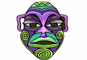 Afrikanische Masken Malvorlagen