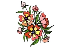 Ausmalbild Blume
