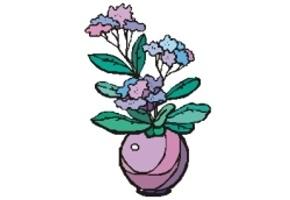 Ausmalbilder Blumenvase Kostenlos