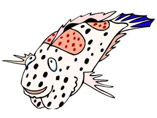 Ausmalbilder Fische Comic Kostenlos