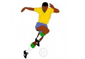 Ausmalbilder Fussballspieler Kostenlos