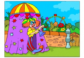 Ausmalbilder Zirkus