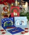 weihnachtskarten basteln mit kindern. Black Bedroom Furniture Sets. Home Design Ideas