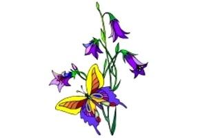 Blumen Schmetterlinge Ausdrucken