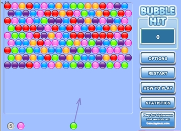 bubble shooter hit