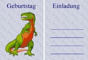 dinosaurier einladungskarten, Einladungen