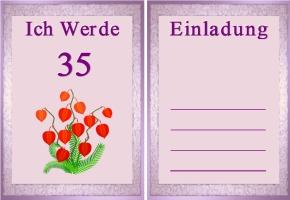 Einladung 35. Geburtstag