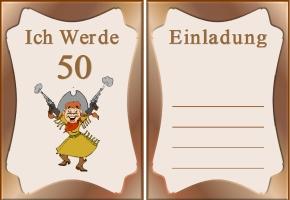 Glückwünsche Zum 50 Geburtstag Kostenlos Ausdrucken U2013 Klotzbuecher,  Einladung