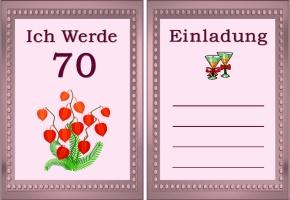 Einladung 70 Geburtstag