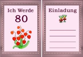 Einladungskarten Zum 80 Geburtstag Kostenlos U2013 Cloudhash, Einladungs