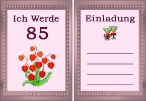 Einladung 85. Geburtstag