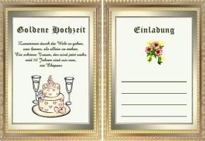 Einladung Goldene Hochzeit Text ~ Alle Guten Ideen über Die Ehe, Einladungs