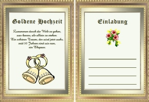 Einladung Goldene Hochzeit Text