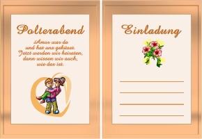 einladungskarten polterabend – pixelwarfare, Einladung