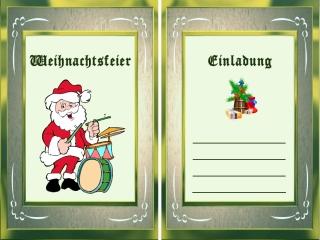 einladung zur weihnachtsfeier kostenlos, Einladung