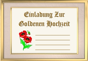 Einladungen Goldene Hochzeit Kostenlos