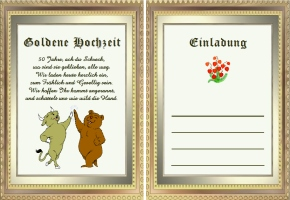 Einladungen Goldene Hochzeit Lustig