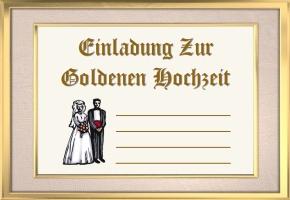 Einladungen Goldene Hochzeit Muster
