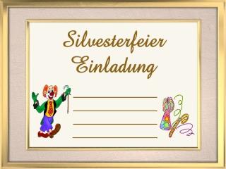 einladungen silvesterparty kostenlos, Einladung