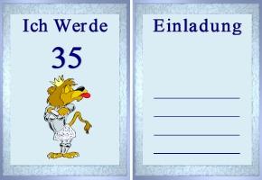 Einladungskarte 35. Geburtstag