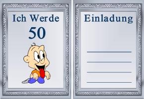 lustige einladungen zum 50. geburtstag selbst gestalten kostenlos, Einladung