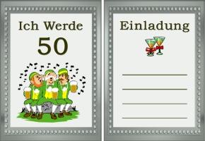 Einladungskarte 50 Geburtstag