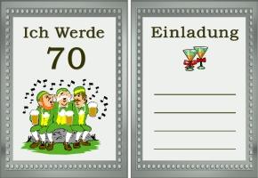 Einladungskarten Zum 70 Geburtstag Kostenlos U2013 Cloudhash, Einladungs