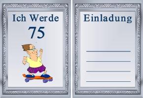 Geburtstag einladungskarte 75 geburtstag einladungskarte 75 geburtstag