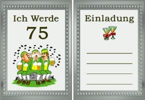 Einladungskarte 75. Geburtstag