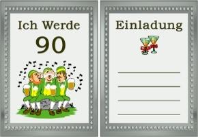 Einladungskarte 90. Geburtstag