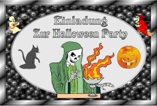 Einladungskarte Halloween 1