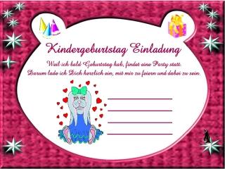 Einladungskarten Kindergeburtstag Für Mädchen, Einladungs