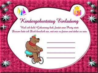 Einladungskarten Kindergeburtstag Vorlagen Gratis, Einladungs