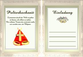 Einladungskarten Polterhochzeit