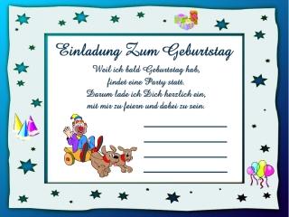 Einladungskarten Zum Kindergeburtstag Ausdrucken