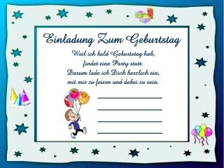 Einladungskarten Kindergeburtstag 10 Einladungskarten Kindergeburtstag ...