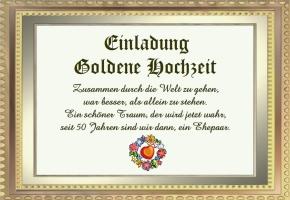 Einladungssprüche Goldene Hochzeit