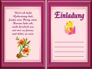 Einladungstexte f r geburtstagskarten gratis for Geburtstagskarten gratis drucken