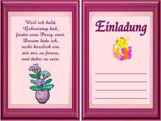 Einladungstexte Für Geburtstagskarten Vorlagen
