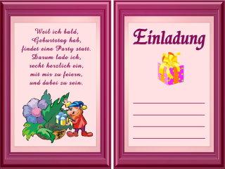 Pin Einladungen 324 Schöne Lustige Geburtstagseinladungen Kostenlos ...