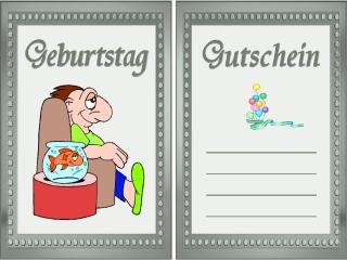 Geburtstag Gutschein Vorlagen