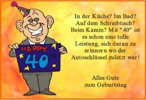 Geburtstagsspruch Lustig 40   gute geburtstagssprüche