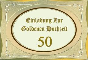 Goldenen Hochzeit Einladungen 13
