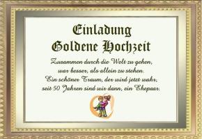 Goldene Hochzeit Einladungstexte