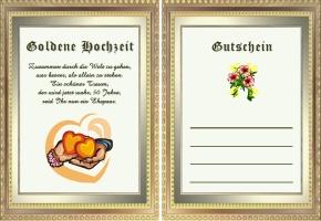 Goldene Hochzeit Gutschein