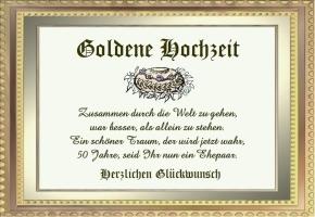 Goldene Hochzeit Spruche