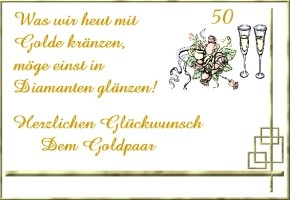 Spruch Goldene Hochzeit Kurz Kurze Hochzeitssprche Fr Karten