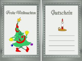 Vordruck Frohe Weihnachten.Gutschein Weihnachten Vorlage