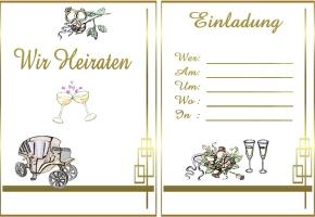 Hochzeitskarten Zum Ausdrucken